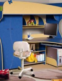 Детская кровать чердак с рабочей зоной «Альфа-3»