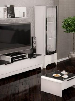 Мебель для гостиной «Танго» Белый глянец