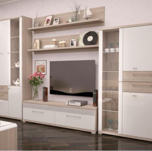 Мебель для гостиной «Вива» Белый Глянец