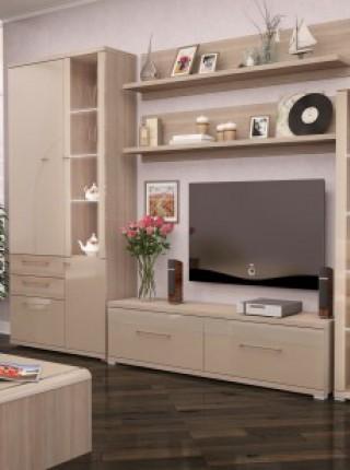 Модульная мебель для гостиной «Вива» Глянцевый Капучино