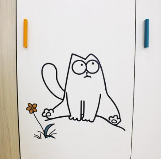 """Шкаф 3-х створчатый """"Кот"""" 25"""