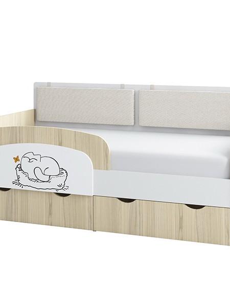 Кровать-тахта 1600*800 «Кот» с бортиком