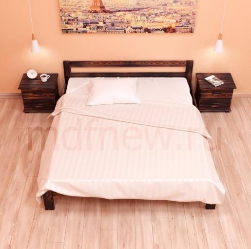 """Кровать MDF """"Комфорт"""" усиленная двуспальная из массива"""