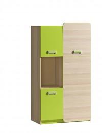 Шкаф двухстворчатый L5 зелёный
