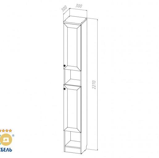 Шкаф узкий «Баунти Б-07м» (левый/правый)