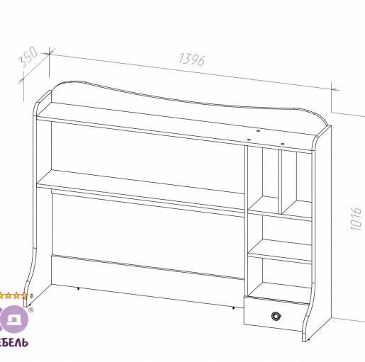 Надстройка стола «Леди»