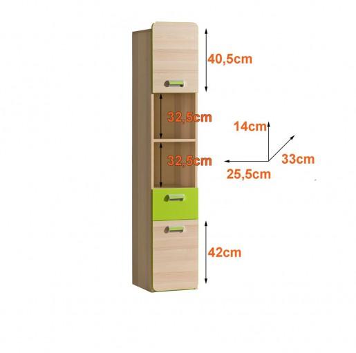 Шкаф одностворчатый L3 зелёный