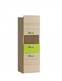 Шкаф одностворчатый L4 зелёный