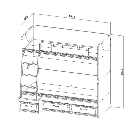 Кровать двухъярусная «Корсар-6»