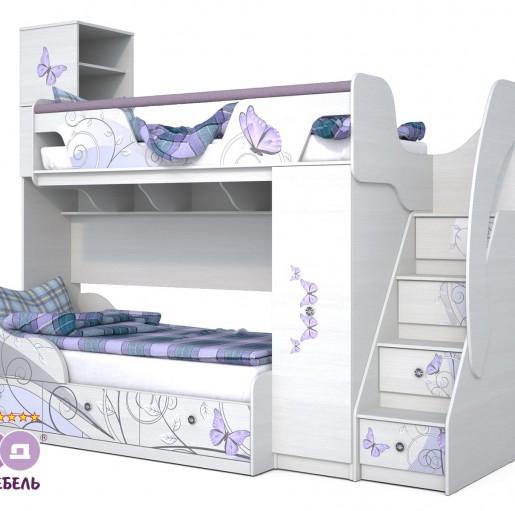"""Детская кровать """"Леди-4"""" + """"Леди-3-1"""""""