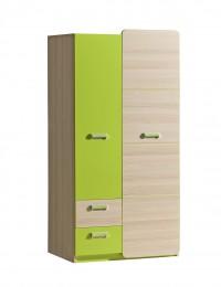 шкаф двухстворчатый L1 зеленый