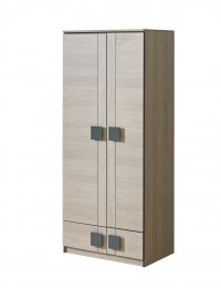 Шкаф двухстворчатый G1 серый