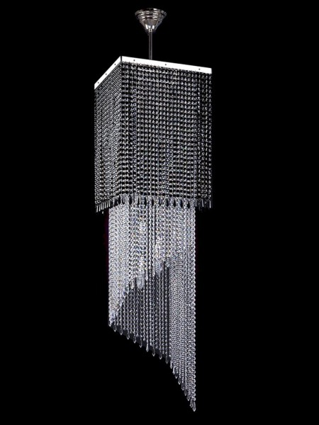 Большой хрустальный светильник Artglass серия AMBRA nickel