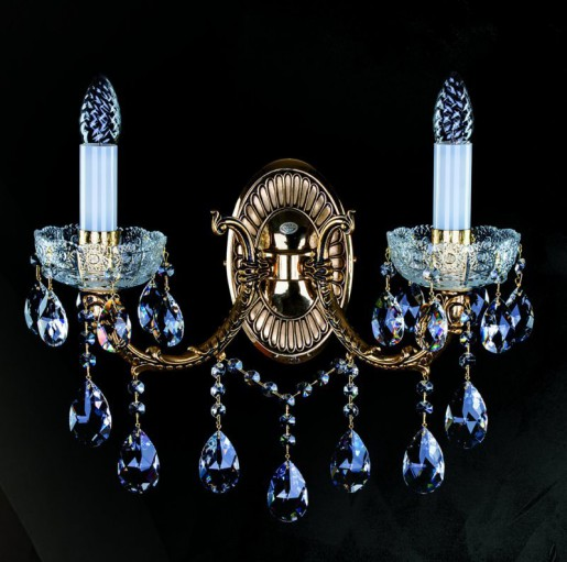 Бра латунное Artglass серия CR 0006-02-20 brass antique WL