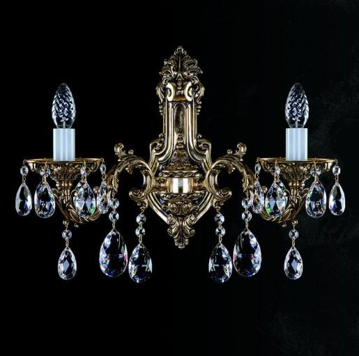 Бра латунное Artglass серия CR 0011-02-20 brass antique WL