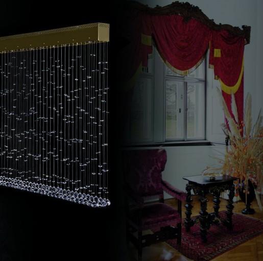 Большой хрустальный светильник Artglass серия CURTAIN III