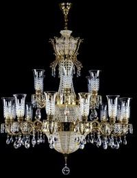 Хрустальная люстра Artglass серия Chandelier CROWN Brass Antique