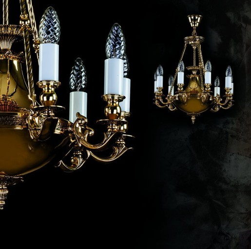 Люстра Artglass серия DAFNE brass antique