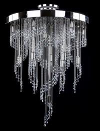 Большой хрустальный светильник Artglass серия ERIN nickel