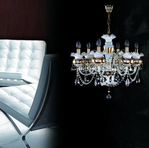 Хрустальная люстра Artglass серия ESMERALDA VI. white