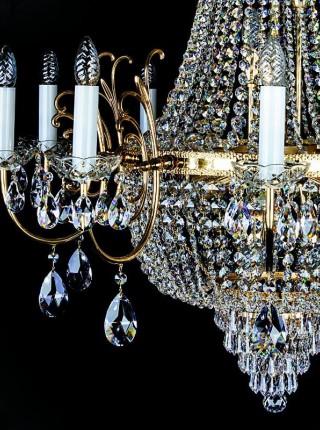 Большой хрустальный светильник Artglass серия HILLARY dia. 1000