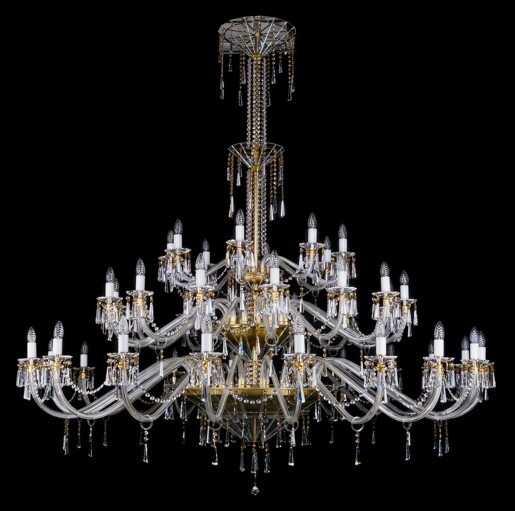 Большая хрустальная люстра Artglass серия INGEBORG 1950x2000