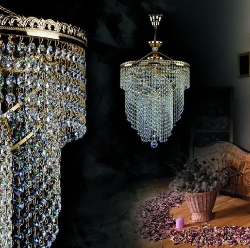 Хрустальный светильник Artglass серия JASMINA DIA 400 2xR14 YELLOW DROPS ATYP CE