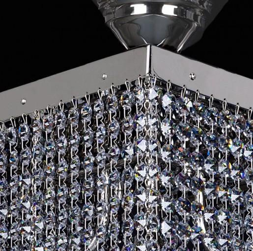 Хрустальный светильник Artglass серия LEANDRA 300x300 nickel