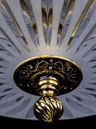 Потолочный светильник Artglass серия LEA III. Brass Antique