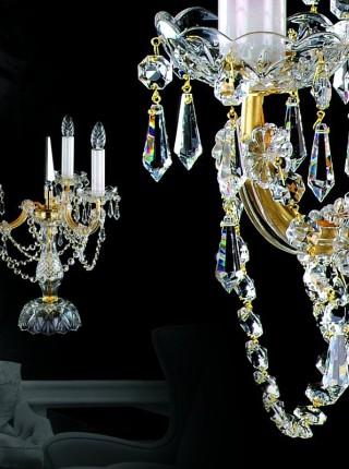 Хрустальная настольная лампа Artglass серия MARIA TEREZIA 15 TL