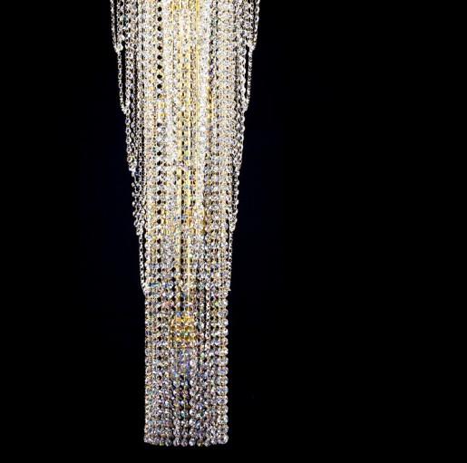 Большой хрустальный светильник Artglass серия MELANIE dia. 550x1500