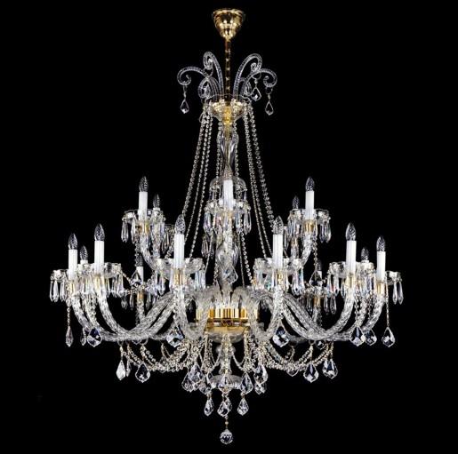 Большая хрустальная люстра Artglass серия MIRELA XVIII