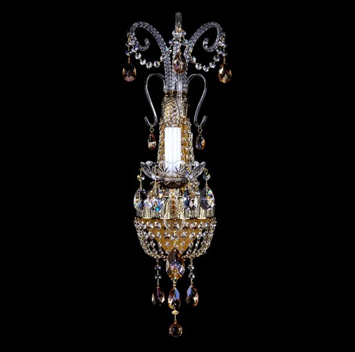 Хрустальное бра Artglass серия NADINE I. Brass Antique