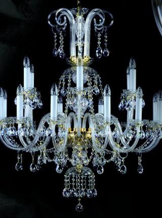 Большая хрустальная люстра Artglass серия ROMA XVIII