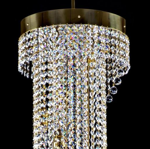 Хрустальный светильник Artglass серия SPIRAL 300x1200 balls