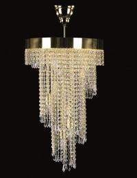 Хрустальный светильник Artglass серия SPIRAL 400x700 drops