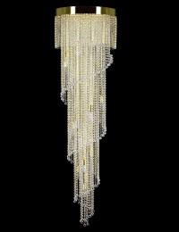 Большой хрустальный светильник Artglass серия SPIRAL 500x1800 balls