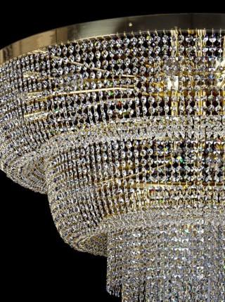 Большой хрустальный светильник Artglass серия SPIRAL COLUMN