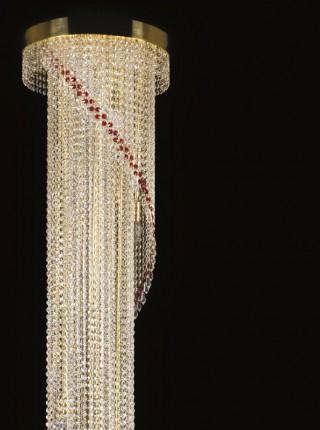Большой хрустальный светильник Artglass серия SPIRAL dia. 400x2300 drops