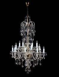 Большая хрустальная люстра Artglass серия THEODORA XVI. Dark patina