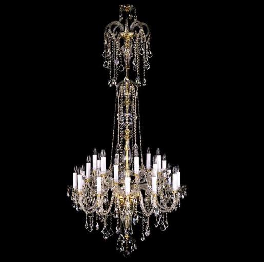 Большая хрустальная люстра Artglass серия THEODORA XXIV. 1200x2300