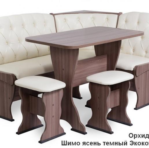 Кухонный уголок Орхидея Люкс ШИМО ЯСЕНЬ ТЕМНЫЙ