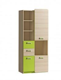 Шкаф с открытой нишей L7 зелёный