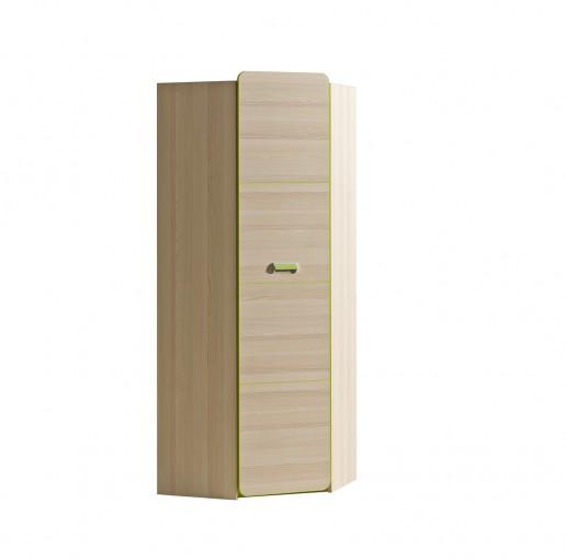 шкаф угловой L14 зелёный