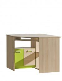 стол письменный угловой L11 зеленый