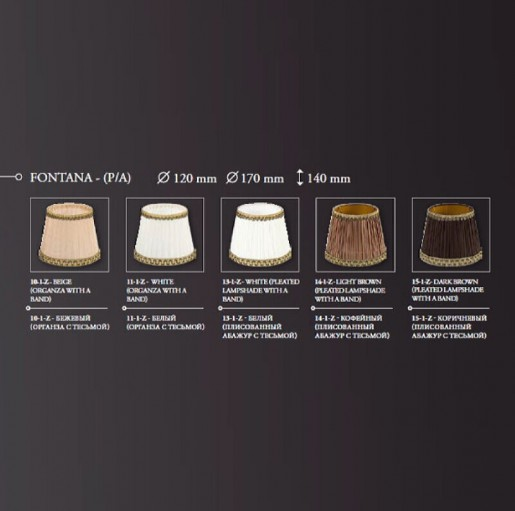 Декоративная настольная лампа Kutek Fontana FON-LG-1(P/A)