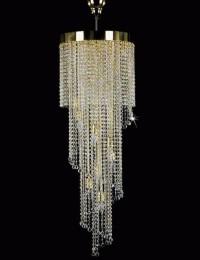 Люстра хрустальная Artglass SPIRAL 400x1200 BALLS CE