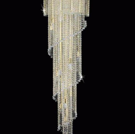 Люстра хрустальная Artglass SPIRAL 500x1800 BALLS CE
