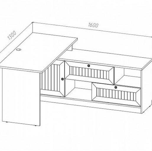 Стол письменный угловой Сканд Баунти СБ-03 (правый)