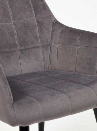Кресло BEATA металл/ткань Серый, 56х60х82 см
